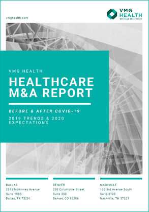 VMG Health M&A Report 2020 Cover PAge-1